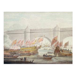 Die Landung Lords Bürgermeister in Westminster Postkarte