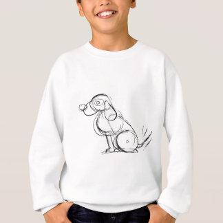 Die lange Hülse der flüchtige Hundekinder Sweatshirt