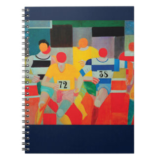 Die Läufer durch Robert Delaunay Spiral Notizblock