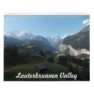 Die Lauterbrunnen Tal-Schweiz-Kalender Abreißkalender