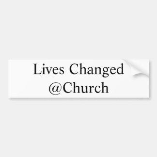 Die Leben änderten @Church Aufkleber Autoaufkleber