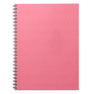 Die leere rosa diy Beschaffenheits-Schablone Spiral Notizblock