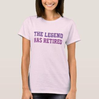 Die Legende hat sich Purpur zurückgezogen T-Shirt
