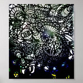 Die Leinwand des Wicklungs-Wurm-A2 Poster