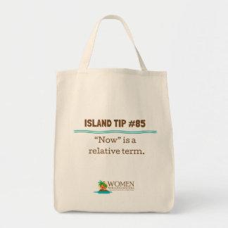 Die Leinwand-Öko-Tasche #85 des Insel-Eingeweihten Einkaufstasche