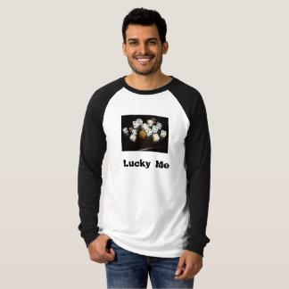 Die Leinwandlanger Raglan-T - Shirt w/text der