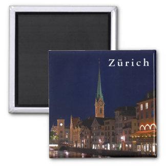 Die Lichter des Abends Zürich Quadratischer Magnet