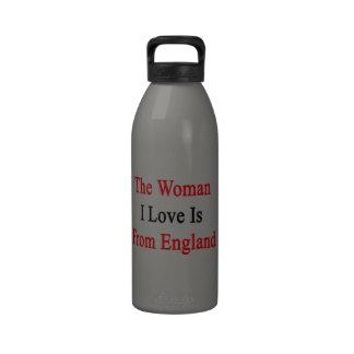 Die Liebe der Frauen-I kommt aus England Wiederverwendbare Wasserflaschen