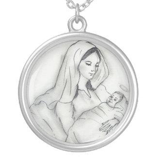 Die Liebe der Mutter Versilberte Kette