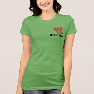 Die Liebe der T - Shirt-Frauen mein Bichon Frise T-Shirt