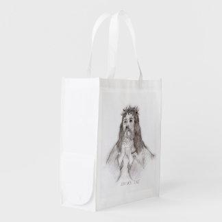 Die Liebe des Retters Wiederverwendbare Einkaufstasche