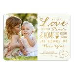 Die Liebe-Goldart Feiertags-Foto-Karte des Gottes 12,7 X 17,8 Cm Einladungskarte