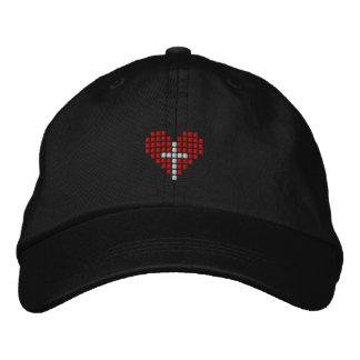 Die Liebe-Hut des Gottes - Kreuz plus Herz Besticktes Cap