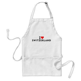 Die Liebe I Schweiz-Land wie Herzreise touri Schürze
