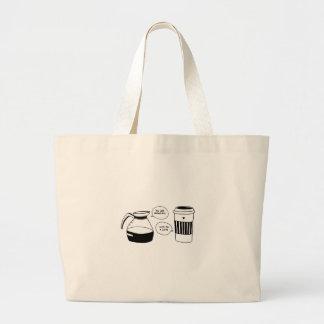 Die Liebe Kaffee Latte Valentines Jumbo Stoffbeutel