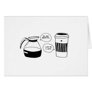 Die Liebe Kaffee Latte Valentines Karte