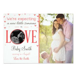 Die Liebe-Schwangerschafts-Ultraschall-Mitteilung 12,7 X 17,8 Cm Einladungskarte