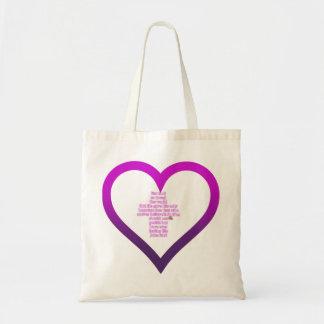 Die Liebe-Taschen-Tasche des Gottes Tragetasche