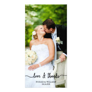 Die Liebe u. Dank, die Wedding sind, dankt Ihnen Bilderkarten