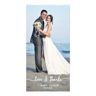 Die Liebe u. Dank, die Wedding sind, dankt Ihnen Fotokarten
