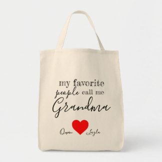 Die LieblingsTasche der Großmutter (personalisiert Tragetasche
