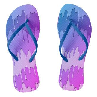 die lila blaue Unisex Bratenfettfarbe drehen Flip Flops