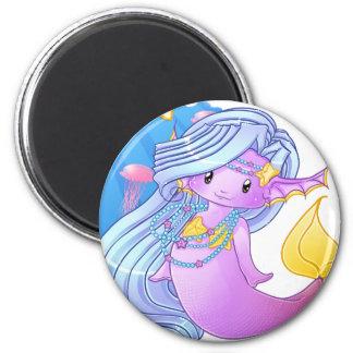 Die lila Meerjungfrau Magnets