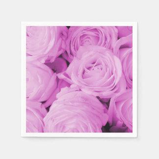 Die lila Rosenerfahrung Papierservietten