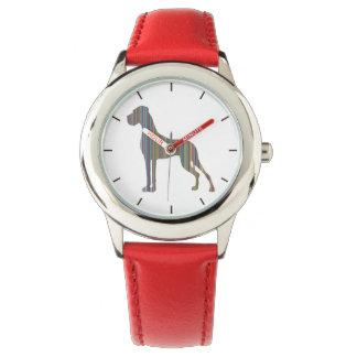 Die Liniendogge Armbanduhr