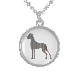 Die Liniendogge Sterlingsilber Halsketten