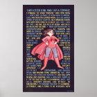 Die Litanei des Aussenseiter-Mädchens für den Poster
