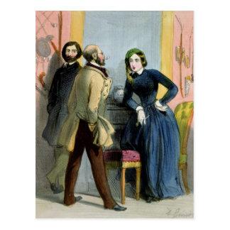 Die literarische Löwin, von 'Femmes De Paris Postkarte