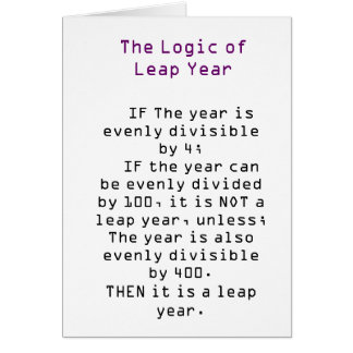 Die Logik des Schaltjahres Karte