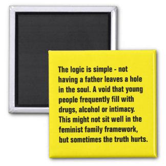 Die Logik ist - einen einfach Vater nicht, habend… Quadratischer Magnet