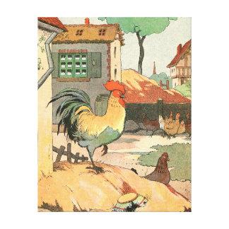 Die Loire-Bauernhaus-Hahn Leinwanddruck