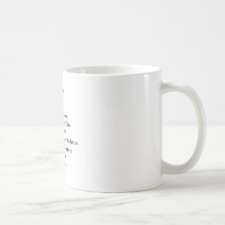 Die Lords Prayer Kaffeetasse