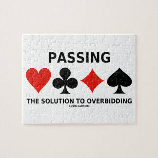 Die Lösung zu Overbidding führen (Brücke) Foto Puzzles