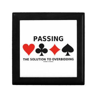 Die Lösung zu Overbidding führen (Brücke) Kleine Quadratische Schatulle