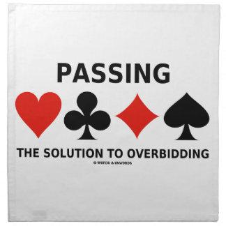 Die Lösung zu Overbidding führen (Brücke) Stoff Serviette
