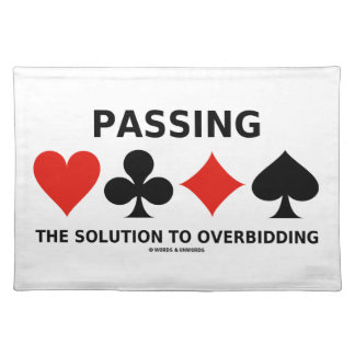 Die Lösung zu Overbidding führen (Brücke) Tisch Set