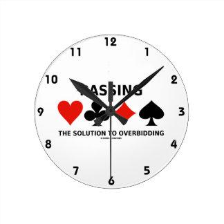 Die Lösung zu Overbidding führen (Brücke) Uhr