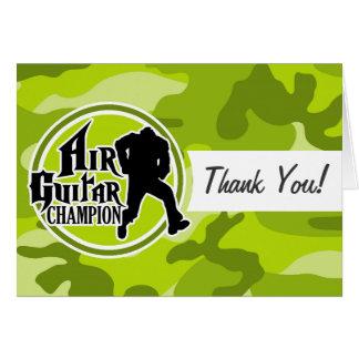 Die lustige Luftgitarre; hellgrüne Camouflage, Karte
