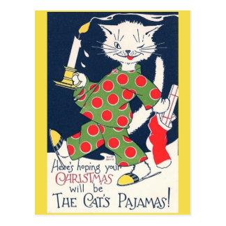 Die lustige Postkarte des Pyjamas der