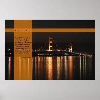 Die Mackinac Brücke - Plakat