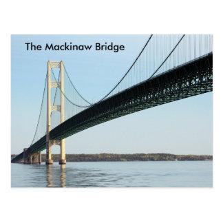 Die Mackinaw Brücke - Tageslicht Postkarte