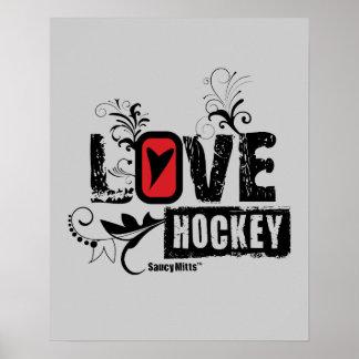 Die Mädchen-Liebe-Hockey-Strudel der Frauen Poster