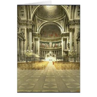 Die Madeleine, Innenraum, Paris, Frankreich Grußkarte