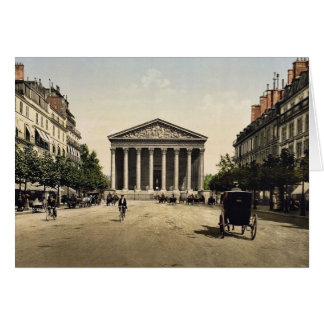 Die Madeleine und Rue Royale, Paris, Frankreich Grußkarte
