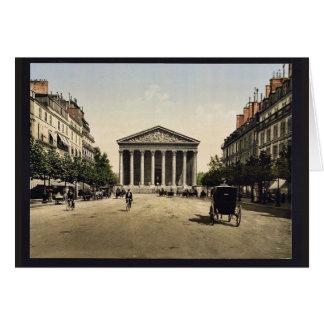Die Madeleine und Rue Royale, Paris, Frankreich Karte