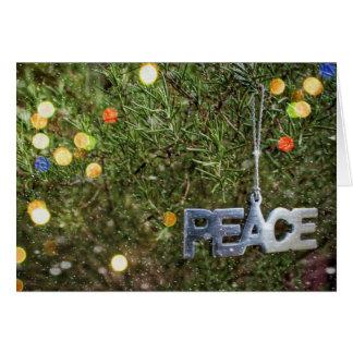 Die Magie der Friedensweihnachtskarte Karte